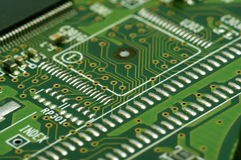 Close-up of electronic circuit board Stock Photography