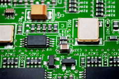 Close-up of electronic circuit board. Macro . Stock Photos