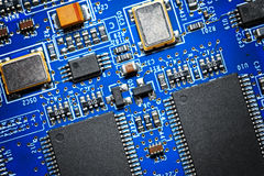 Close-up of electronic circuit board. Macro . Stock Images