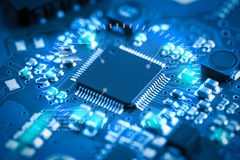 Close-up electronic circuit board. technology style concept. Royalty Free Stock Photography