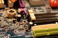 Vintage electronic circuit of a computer Royalty Free Stock Photos