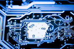 Close up of Electronic Circuits in Technology on   Mainboard background Main board,cpu motherboard,logic board,system board or mo. Close up of Electronic Stock Photos
