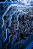 Close up of Electronic Circuits in Technology on   Mainboard background Main board,cpu motherboard,logic board,system board or mo. Close up of Electronic Royalty Free Stock Photography