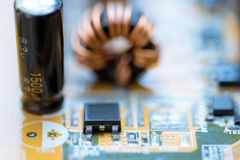 Close up of Electronic Circuits in Technology on   Mainboard background Main board,cpu motherboard,logic board,system board or mo. Close up of Electronic Royalty Free Stock Photo