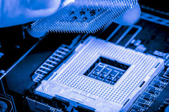 Close up of Electronic Circuits in Technology on   Mainboard background Main board,cpu motherboard,logic board,system board or mo. Close up of Electronic Royalty Free Stock Images