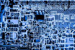 Close up of Electronic Circuits in Technology on   Mainboard background Main board,cpu motherboard,logic board,system board or mo. Close up of Electronic Stock Photography