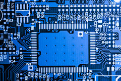 Close up of Electronic Circuits in Technology on Mainboard computer background  logic board,cpu motherboard,Main board,system boa Stock Photos