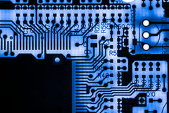 Close up of Electronic Circuits in Technology on Mainboard computer background  logic board,cpu motherboard,Main board,system boa Royalty Free Stock Photography