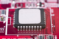 Close up of Electronic Circuits in Technology on Mainboard Royalty Free Stock Photo