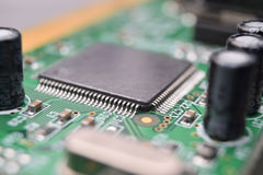 Close up of electronic components Royalty Free Stock Photo