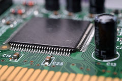 Close up of electronic components Royalty Free Stock Images