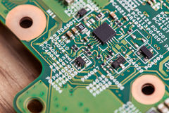 Close up of electronic components on the motherboard, microprocessor chip. Close up of electronic components on the motherboard microprocessor chip Stock Images