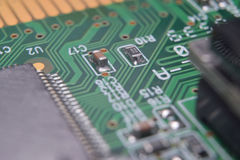 Close up of electronic components Stock Photo