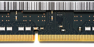 Close Up Electronic RAM Chip Royalty Free Stock Photos