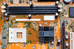 Close up of electronics circuit mainboard board Stock Images