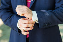 Close-up of elegance male hands Royalty Free Stock Photo