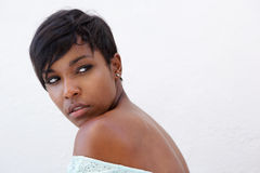 Close up elegant african american woman Stock Image