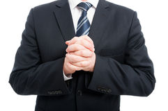 Close-up of elegant man holding his hands crossed Stock Photography