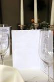 Close-up from an elegant stylish restaurant Royalty Free Stock Photo