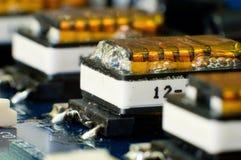 Close-up elektryczne zwitki Obraz Stock