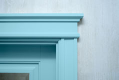 Close up an element of the door's molding Royalty Free Stock Photos