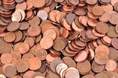 Close-up em euro- centavos imagem de stock royalty free