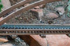 Close up em Train Bridge modelo Foto de Stock Royalty Free