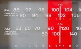 Close up em um afinador do rádio FM-AM Foto de Stock Royalty Free
