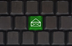 Close up with email button Stock Photo