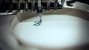 Close up of embroidery stock video footage