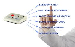 Emergency responce system. Close up of Emergency response system Royalty Free Stock Photo