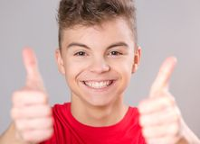 Teen boy portrait Stock Photos