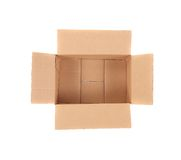 Close up of empty box. Royalty Free Stock Photos