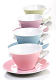 Close up of empty cups in a row Stock Images
