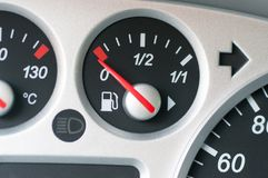 Gasoline indicator. royalty free stock photos