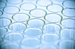 Close-up of empty glass test tubes Royalty Free Stock Images
