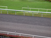 Close-up of empty Horsetrack Royalty Free Stock Photos