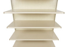 Close-up of empty retail store shelf Stock Photo