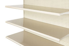 Close-up of empty retail store shelf Royalty Free Stock Photography