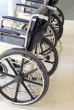 Close up of wheelchair in hospital Stock Images