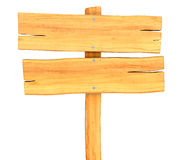 Close up of an empty wooden sign Royalty Free Stock Photos