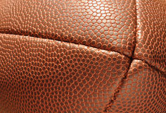 Close-up, End of Football  Showing Texture Royalty Free Stock Photography