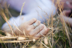 Close up of Engagement Ring Royalty Free Stock Photos