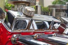 close up Engine of vintage classic retro car detailed engine par stock photos