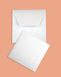 Close-up of envelope and card. Stock Photography