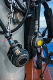 Close-up of equipment for scuba diving Royalty Free Stock Photo