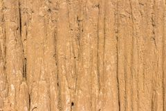 Close Up of eroded sandstone pillars or columns and cliffs Stock Image