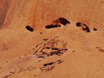 A close up of erosion of a red mountain Stock Images
