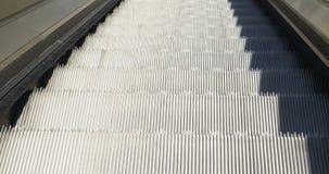 Escalators Up Close Up. Close up of escalators. Moving up to upper floor stock video footage