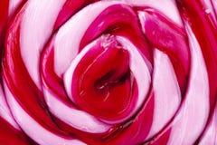 Close up espiral cor-de-rosa do pirulito de Swirly fotografia de stock royalty free